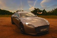 Wedding day transport (Steve M Photography) Tags: astonmartin rapide car supercar sportscar twilight bluesky sunset dusk