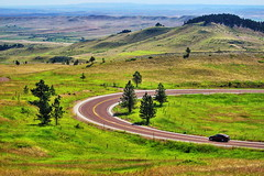Long and Winding Road (Albert Jafar) Tags: longandwindingroad usroute14 wyoming yellowstonenationalpark vehicle outdoor rural hills photographerswharf ngc worldtrekker