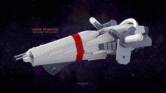 UNEN Teisatsu, Ballantine Class (Backward Matt) Tags: lego ship space spaceship microspace une unen unitednationsofearth unitednationsofearthnavy 23cu 23rdcenturyuniverse backwardmatt mattthebackwardone notarender