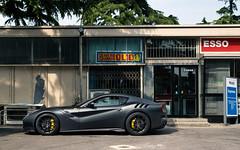 TDF. (Alex Penfold) Tags: ferrari f12tdf f12 tdf matte black supercars supercar super car cars autos alex penfold 2017 mille miglia