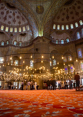 Inside the Blue mosque sultan Ahmet Camii, Sultanahmet, istanbul, Turkey (Eric Lafforgue) Tags: ancient arabic architecture attraction bluemosque byzantium carpet chandelier colorful constantinople famous groupofpeople heritage historic history indoor inside interior islam islamic istambul istanbul landmark medieval mosque muslim old orient oriental ornament ornamental ottoman pattern placeofworship religion religious sultanahmet tourism tourists travel traveldestinations turkey turkey642 turkish unescoworldheritagesite vertical