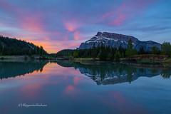 Another Beautiful Morning at the lake (Margarita Genkova) Tags: red rockymountains rundlemountain cascadeponds banffnationalpark alberta nature reflections tranquility beautiful