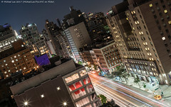 Third Avenue (20170622-DSC04339) (Michael.Lee.Pics.NYC) Tags: newyork night thirdavenue eastvillage architecture cityscape longexposure lighttrails traffictrails elevatedview sony a7rm2 zeissloxia50mmf2