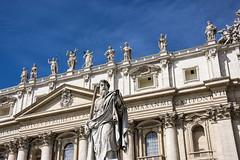 St Paul's Statue, Vatican (Glenn Pye) Tags: stpaulsstatue vaticancity vatican statue basilica romancatholic church churches cathedral rome roma italy europe nikon nikond7200 d7200