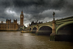 Palace of Westminster (jimj0will) Tags: palace westminster parliament gothic london river thames water victorian tower bigben clock bridge arches england europe uk gb britain city stormy rainy gloomy trouble dismal doom