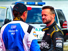Scotland Greenock Scottish Grand Prix of the Sea in the boat pits hard talk 25 June 2017 by Anne MacKay (Anne MacKay images of interest & wonder) Tags: scotland greenock scottish grand prix sea boat pits men driver hard talk hs30 25 june 2017 picture by anne mackay