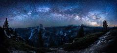 Milky Way over Yosemite (Fluid Light Images) Tags: yosemite stars milkyway halfdome glacier point night dark sky california landscape sony loxia21 carlzeiss