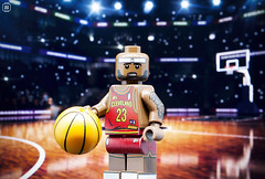 Lebron James (Jezbags) Tags: lego legos toys toy minifigure minifigures macro macrophotography macrodreams macrolego canon60d canon 60d 100mm closeup upclose lebron james basketball nba ball court dunk