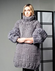 Women in heavy rollneck sweater (Mytwist) Tags: chunky knit sweater dress knitting turtleneck her boyfriend for couple extreme giant family knitwear moroshkabyvingil rollkragen rollneck wool fashion style craft design fetish fuzzy grobstrick handgestrickt handknit heavy winter traditional timeless pullover passion pulli polo cozy classic casual cabledsweater