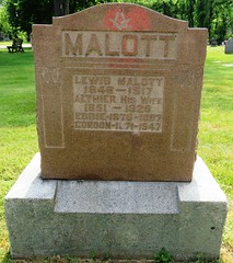 Malott, Lewis 1848 - 1917 (Hear and Their) Tags: fraternal grave stones markers oddfellows masonic mason freemason kingsville ontario greenhill cemetery
