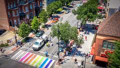 2017.06.10 Painting of #DCRainbowCrosswalks Washington, DC USA 6436