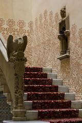 Casa Batlló (Anneya_Art) Tags: barcelona spain interior design nature natural architecture red carpet figure stone gargoile art gaudi antony artist hallway corridor stairs painting casa battlo perfum museum