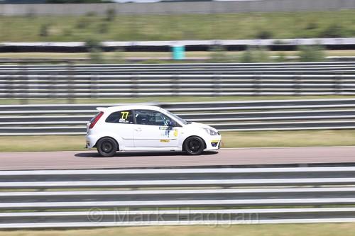 Josh Gollin in the Fiesta championship Class C at Rockingham, June 2017
