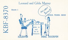 Hairpin & Mrs. Hairpin - Dyer, Tennessee (73sand88s by Cardboard America) Tags: qsl qslcard cb cbradio vintage hairpin tennessee