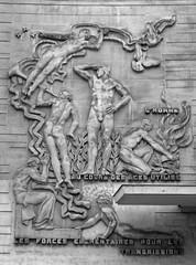 Art Deco era relief sculpture - Télécom Paris Tech, Paris 13th arr (Monceau) Tags: paris 13tharr artdeco relief sculpture men women telecomm télécomparistech