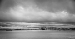 From your favourite sky (.KiLTRo.) Tags: water sf bay monochrome bw horizon sanfrancisco california unitedstates kiltro sea ocean sky clouds landscape city cityscape skyline bridge