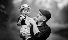Happy Father's Day to all wonderful Dads out there ! (Wojtek Piatek) Tags: fathersday father dad family vintage blackandwhite sony alpha 135mm zeiss daughter park outdoor walk photo shoot fun laugh joy