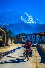 Philip tackling the steep roads in Shilla.