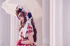 SDF_9612 (SendoFu) Tags: bonnet ボンネット エプロン風スカート blouse bl ブラウス headbow kc カチューシャ bnt 蕾絲 維多利亞 jsk op onepiecedress ワンピース jumperskirt ジャンパースカート nop lolita lolitafashion 蘿莉塔 蘿莉塔時裝 ロリータ・ファッション sweetlolita classicallolita