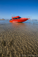 Waiting For The Sea (Brian O'Mahony) Tags: thephotographiceye sky blue brianomahony canon canon6d sand water orange speedboat boat indonesia semawang beach sanur canon1635mmf28l sea bali beautiful