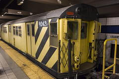 MTA Work train with RD421 (Camera-junkie) Tags: nyc nycsubway mta broadway irt r33 work train worktrain subway mtasubway mtanewyorkcitytransit