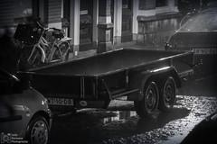 Heavy rain (Luke Hermans Photography) Tags: heavy rain zware regen regenval storm night street nacht straat den haag hague netherlands nederland zwart wit zwartwit black white blackwhite