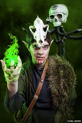Fen'Harel...[Explore] (Ring of Fire Hot Sauce 1) Tags: cosplay dreadwolf solas fenharel chauntelcarmen wondercon portrait dragonage inquisition flames skull videogame