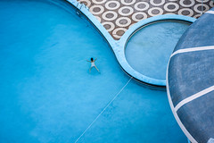 Yaoundé, Cameroon (gstads) Tags: cameroon cameroun yaoundé pool swimmingpool swimming blue architecture lines curves curve line geometry geometric circle circles montfebe montfébé africa afrique hotel yaounde piscine bleu circular swim swimmer