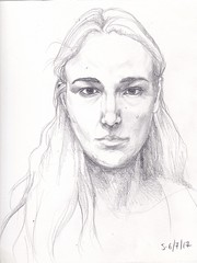 Selfportrait (Norenko) Tags: me girl woman pencil sketch