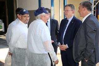 El President de la Generalitat, Ximo Puig, visita la empresa conservera Manuel Mateo Candel en Rafal. 22-06-2017.