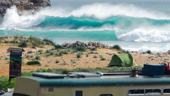 Go Camping...no sleep (Jop Hermans Photography) Tags: wave surf surfing camping outdoor ocean water sea tent campsite beach nature portugal algarve blue colourful seaside jophermans surfphotography