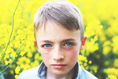 Lee (RL Mulholland) Tags: portrait photography children kids family face eyes freckles yellow colour 50mm canon 6d