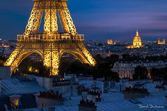 Paris ! (David-Duchens) Tags: paris france architecture toureiffel nuit fujifilm eiffeltower longexposure night light rooftop