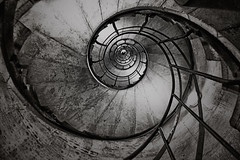 ...vortex... (*ines_maria) Tags: old architecture vintage step spiral abstract wall desktop art design light dark tube shadow retro rusty indoor stairs arc de triomphe insind paris city urban urbanart panasonicdmxgx8 panasonic double exposure ps arcdetriomphe friends