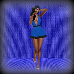 MishMash Fusion Mini Dress Blue & Timeless Textures - Social Climber Azure (melyna.foxclaw) Tags: iheartslfeed mishmashfusion timelesstextures battlefairy thewashcartsale patriotic homedecor summer minidress footwear secondlife strappy heels slinkhighheels maitreyahighheels bellezahighheels metalisticheels silver