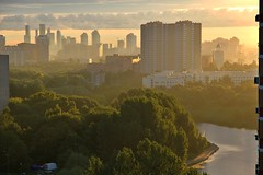 This early morning (vitalsimonovjb) Tags: moscow russia summer national landscape architecture forest nature river lake ochakovo