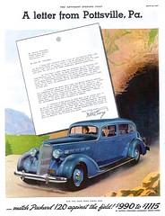 1936 Packard 120 Five-Passenger Sedan (aldenjewell) Tags: 1936 packard 120 sedan five passengers ad