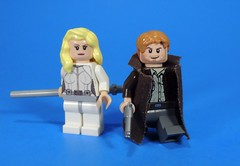 Captains of the Waverider (MrKjito) Tags: lego minifig custom sarah lance rip hunter legends tomorrow waverider cw tv show arrowverse dc comics comic super hero captain decal