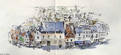 Amboise (m.JaKar) Tags: aquarelle croquis carnetdevoyage dessinurbain france insitu sketchcrawl usk rencontrenationale urbansketchers