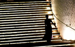 Every confident step takes you closer to the top. (Sriini) Tags: girl pretty silhouette thai steps light banded black white artistic hank