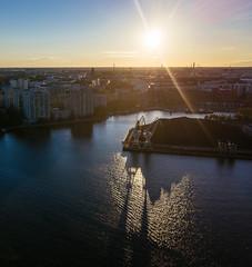 DJI_0245 (miemo) Tags: dji mavic mavicpro aerial city coal cranes drone dronephotography europe evening finland flare hanasaari helsinki horizon kallio merihaka sea skyline sompasaari summer sun sunlight sunset sunshine uusimaa fi