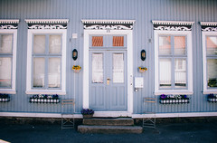 Norwegian House (freyavev) Tags: sandefjord norway norge house woodenhouse wooden windows doors flowers urban pretty bluehouse vsco canon canon700d