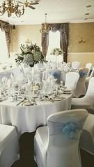 Walton Hall, Wakefield - Stacey & Jonathan (Unique Wedding Flowers & Chair Covers) Tags: bagden hall huddersfield blue room chair covers blush sash lace candelabra flowers unique wedding emma osborne barnsley wakefield sheffield reception unusual special woolley yorkshire south west north bride bridal photo photograph england groom table decorations florist floral design wentbridge rogerthorpe manor house fairway elsecar nostell priory walton waterton twinkle twinkly satin orchard suite metcalfe wentworth woodhouse rotherham bouquet stacey jonathan baby