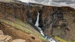 Litlanesfoss - East Iceland (peterjcoughlan) Tags: basalt cascade clouds colour columns east geology gorge iceland landscape litlanesfoss magma nature pool river sky stuðlabergsfoss water waterfall wow