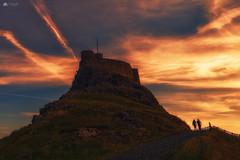 Lindisfarne light... (Kerriemeister) Tags: lindisfarne castle holy island silhouette northumberland coast coastal nikon tide pilgrimage
