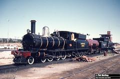 1774 G123 G233 Forrestfield Loco 28 February 1981 (RailWA) Tags: railwa philmelling westrail vintage train g123 g233 forrestfield loco