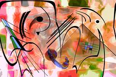 Sinfonía inconclusa (seguicollar) Tags: sinfonía rayas líneas curvas círculos esferas cuadrados imagencreativa photomanipulación art arte artecreativo artedigital virginiaseguí imitandokandinski color