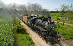 Illinois Time Machine (jterry618) Tags: illinoisrailwaymuseum union illinois steamlocomotive frisco1630 steamengine decapod 2100 russiandecapod steamtrain passengertrain steamrailway museum
