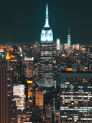 Empire State Building (Kai Pilger) Tags: esb empirestatebuidling hochhäuser manhattan midtown newyork onewtc oneworldtradecenter topoftherock usa sky city travel night tower urban architecture cityscape building skyline skyscraper modern panoramic illuminated tall