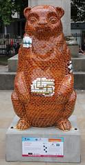 Factory Bear (ahisgett) Tags: birmingham children's hospital charity wild art big sleuth 2017 bearmingham bear